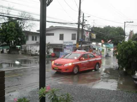 Бангкок Тайланд 30-ое августа 2012 года.Сезон Дождей.