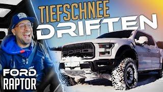 JP Performance - Tiefschnee Driften auf der Lasise + Zeit | Ford Raptor