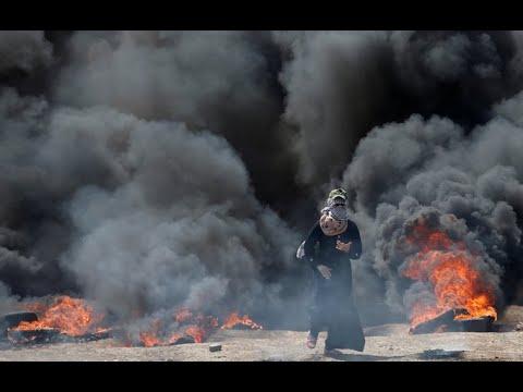 Netanyahu speaks at U.S. embassy in Jerusalem as dozens killed in Gaza protests