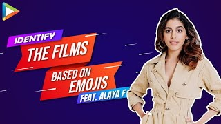 Alaya F takes the FUNNIEST Quiz - Identity the films based on Emojis | Raees | Simmba