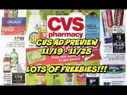 CVS EARLY AD PREVIEW FOR 11/19 - 11/25 | GREAT FREEBIES THIS WEEK!