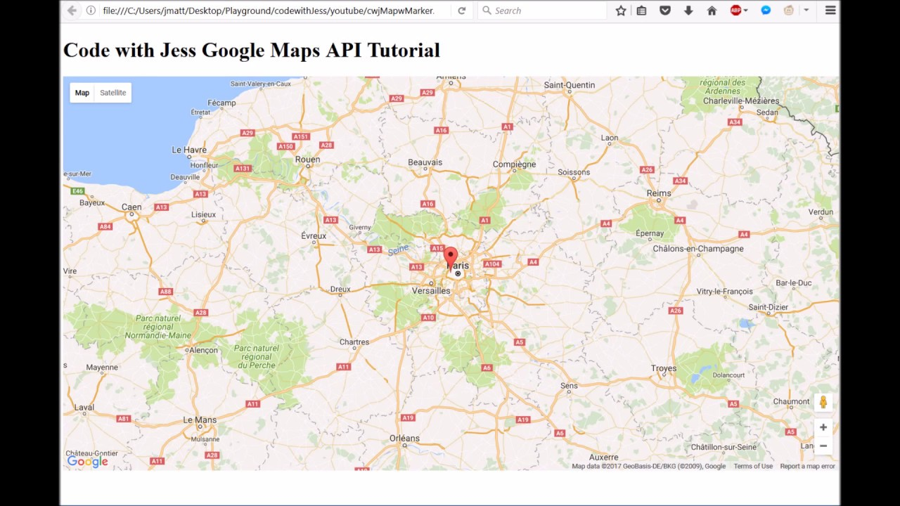 How to use google maps javascript api making a map youtube how to use google maps javascript api making a map baditri Image collections