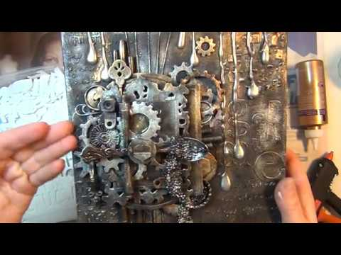 HOW TO MAKE A MIXED MEDIA CAVAS WITH LOTS OF TEXTURE