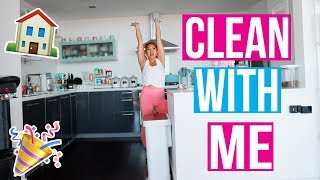 CLEAN MY APARTMENT WITH ME!!