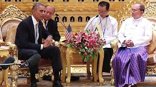 President Obama Meets with the President of Burma