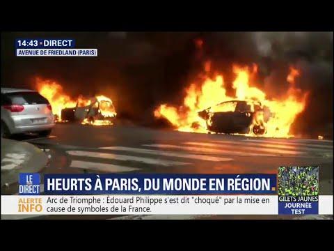 Heurts à Paris: des voitures sont incendiées à proximité des Champs-Élysées