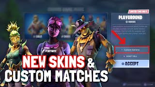 FORTNITE NEW SKINS AND CUSTOM GAME MATCHES !! (v6.01 update / Scarecrow Skins)