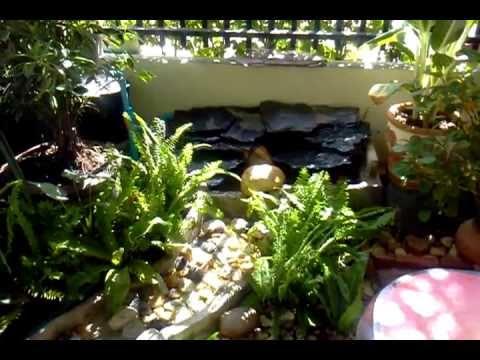 จัดสวนน้ำตกหน้าบ้าน1