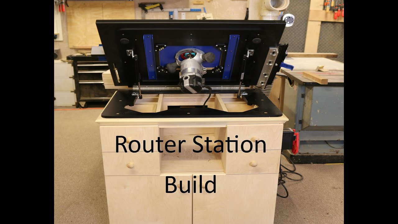 Homemade router table lift - Router Station Build With Dowelmax Lift
