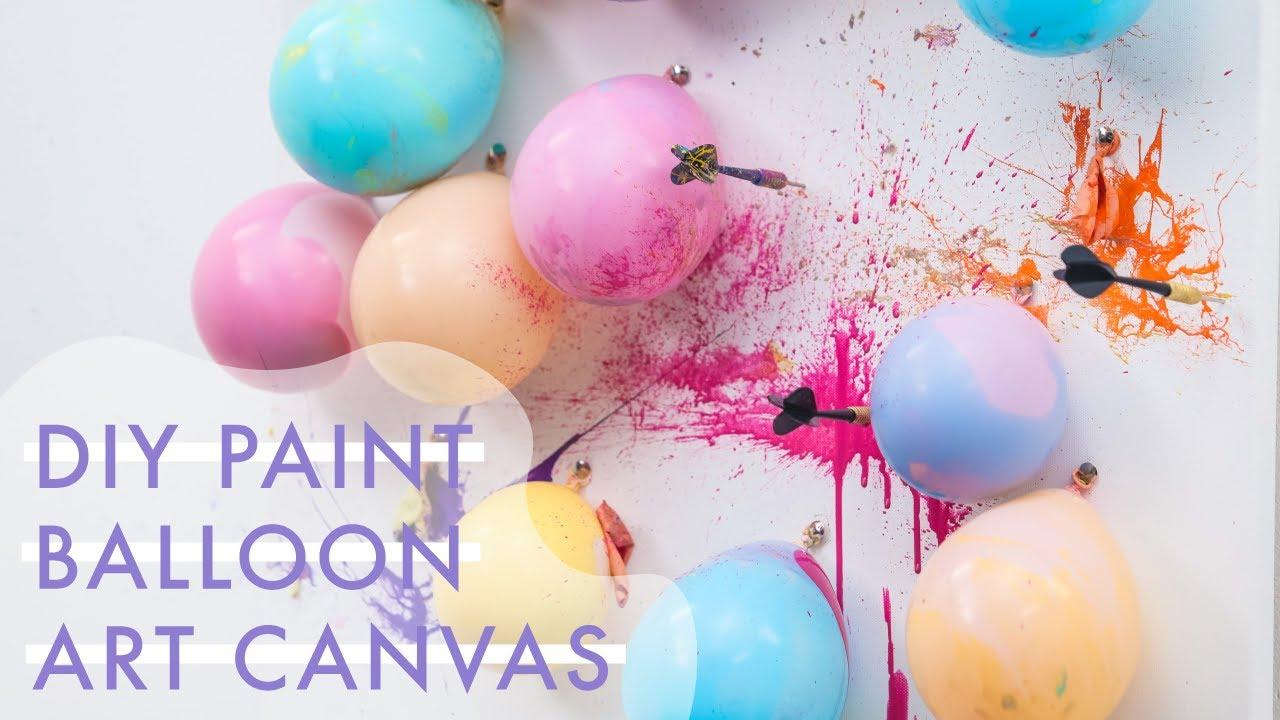 Diy Balloon Dart Paint Splash Game Makeful Youtube