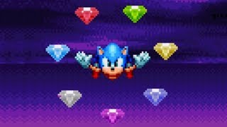 Sonic Mania - All Chaos Emeralds Special Stages (Unlock Super Sonic)
