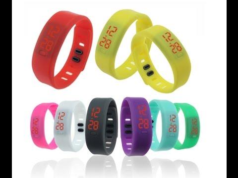 8ec8abc9 Led часы 2 спортивные светодиодные водонепроницаемые led watch with  silicone strap