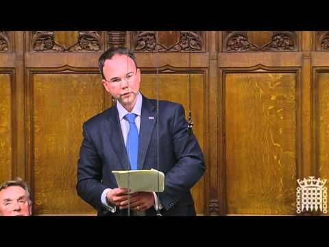 Gavin Barwell MP gives his first speech in the House of Commons