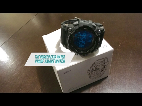 Rugged Military Style EX1 Waterproof Smart Watch - With A 12 Month Battery Life | Charge Free Smart⌚