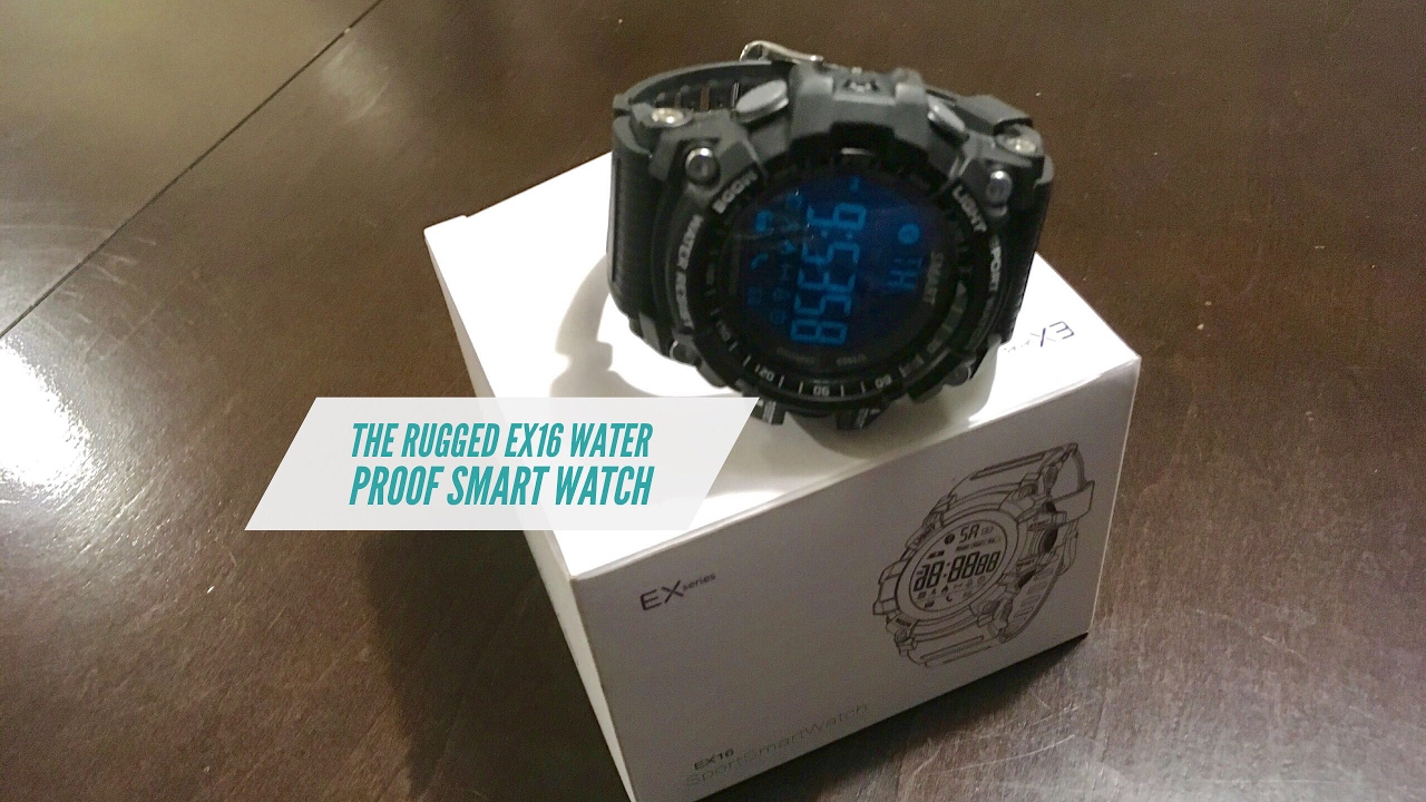 Rugged Military Style Ex1 Waterproof Smart Watch With A 12 Month Battery Life Charge Free Smart Youtube