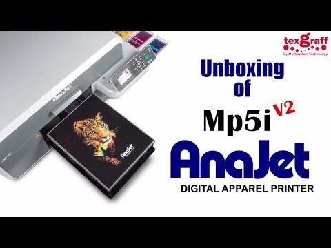 Direct to Garment Printer - Unboxing the New Anajet V2 - Dubai, UAE