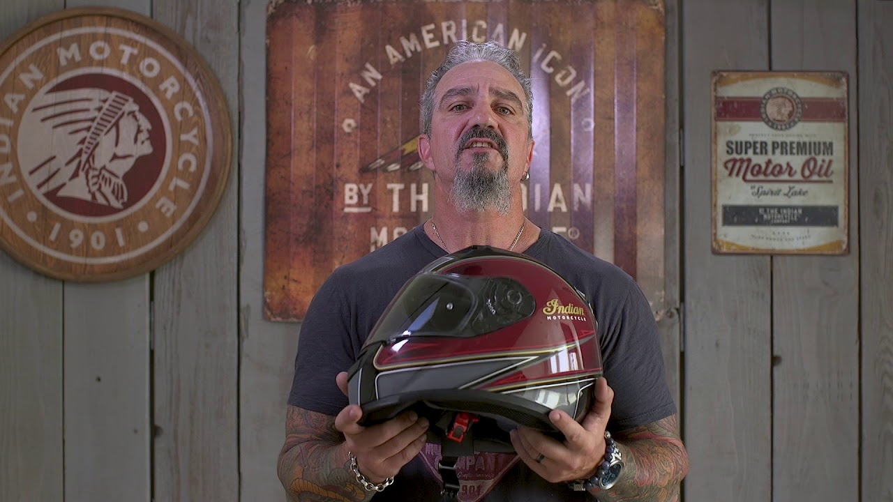Indian Motorcycle Full Face Outpost Helmet S Red//Black