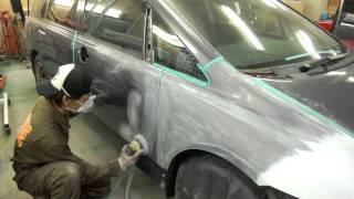 【その2】国分寺市よりご来店 ホンダ オデッセイの板金・塗装・修理作業です。 【板金塗装なら東京立川市のガレージローライド】 thumbnail