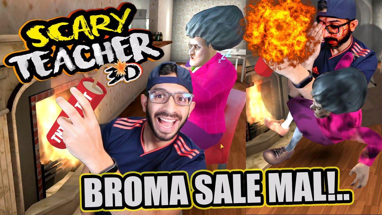 SE INCENDIA LA CASA DE LA MAESTRA LOCA   Scary Teacher 3D Capitulo 5   Juegos Luky