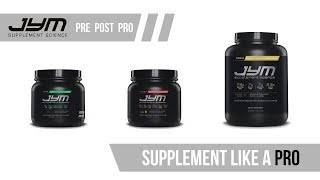 how to take pre pro and post jym