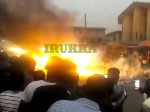 Fire Outbreak At Oshodi Market, Shops And Cars Destroyed (Watch  Video)