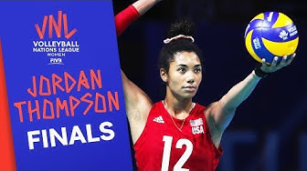Jordan Thompson scored 33 Points in the Final Round vs. Brazil | FIVB Volleyball Nations League 2019