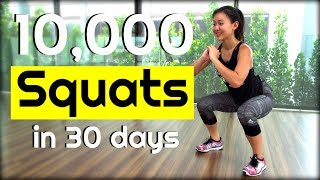 10,000 SQUAT Challenge in 30 Days | Joanna Soh