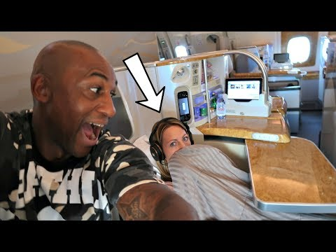 ANNIVERSARY SURPRISE! Business Class Airplane Flight To Dubai | Famtastic