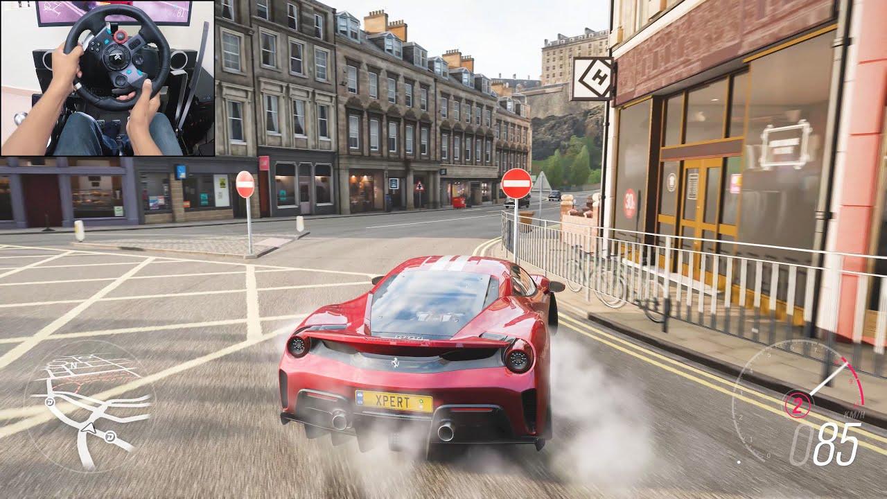 Ferrari 488 Pista - Forza Horizon 4 | Logitech g29 gameplay thumbnail