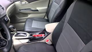 FH Group Seat Covers (PU Black Racing Seat Covers)