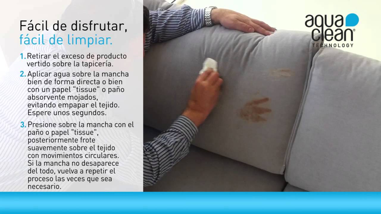 Aquaclean limpieza en tiempo real youtube - Telas para cubrir sofas ...