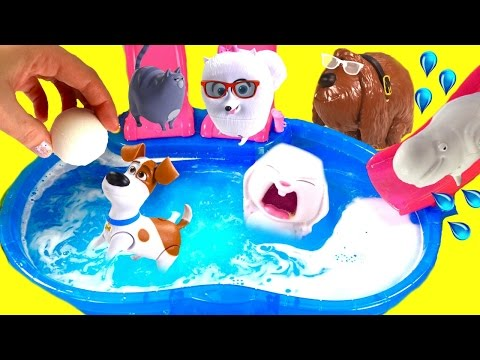 Thumbnail: The Secret Life of Pets Dive for Toy Surprises in Bath Bomb Pool! Blind Bags & Mashems!