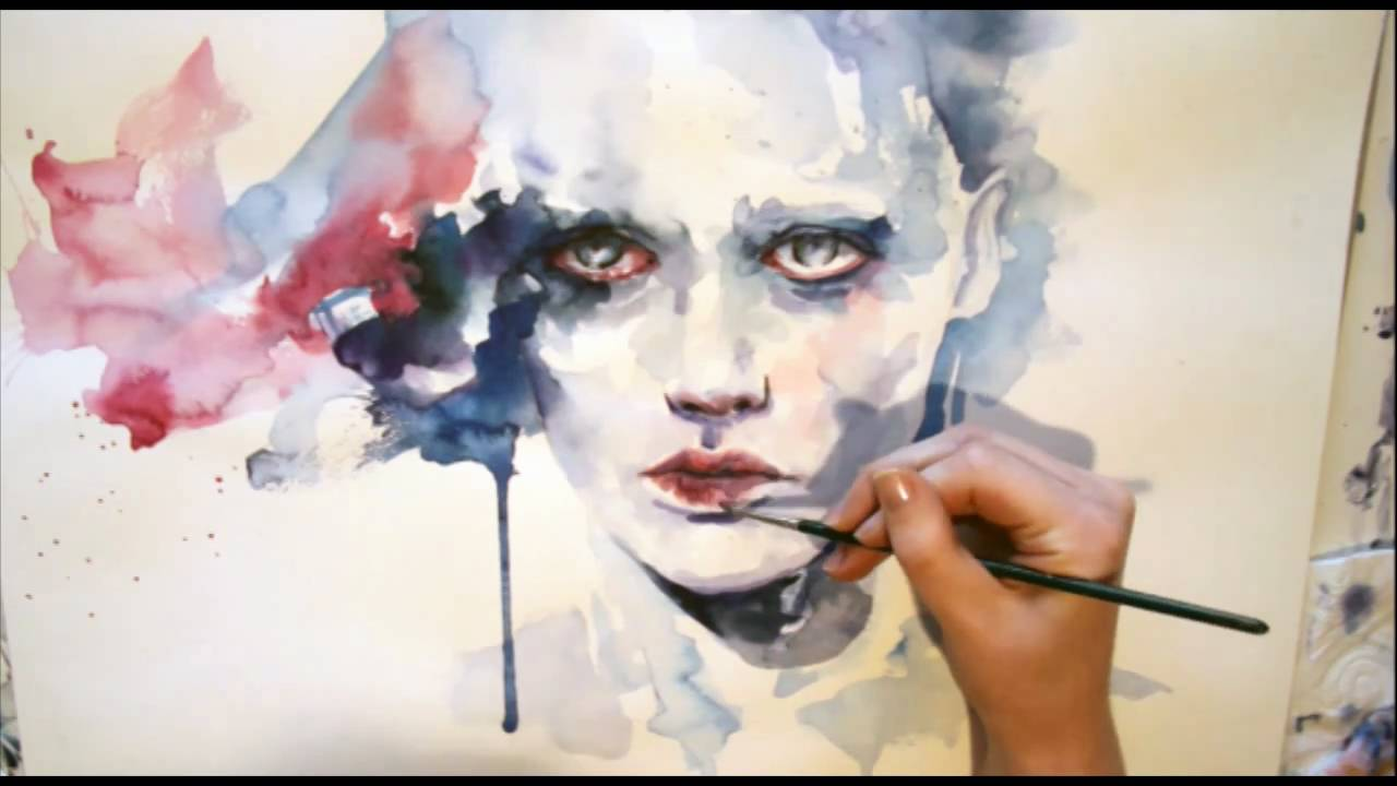 Painting Womens Face Watercolor