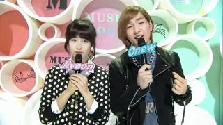 Onew and Jiyeon @ Music Core 101113