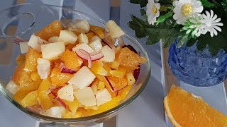 Вы не поверите как это вкусно!!!! Салат из несочетаемых продуктов. Рецепты салатов.