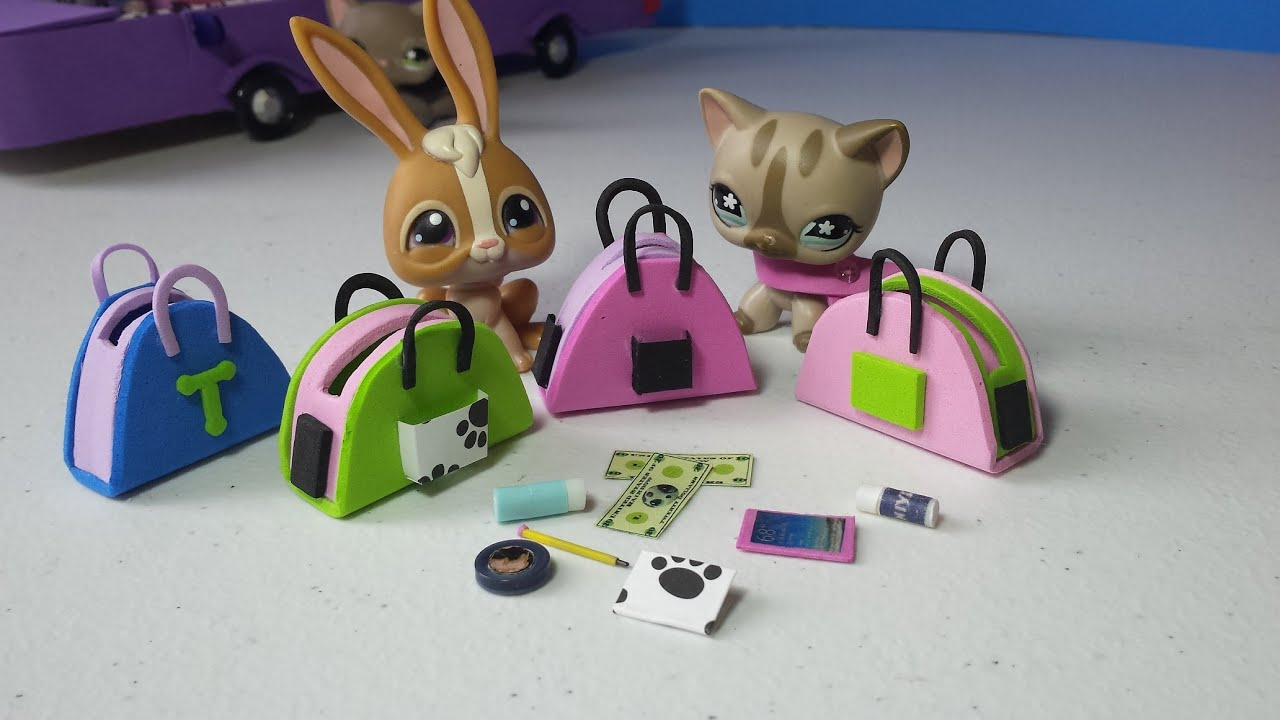 How to Make LPS Purses Handbags Plus Accessories: Doll DIY ...