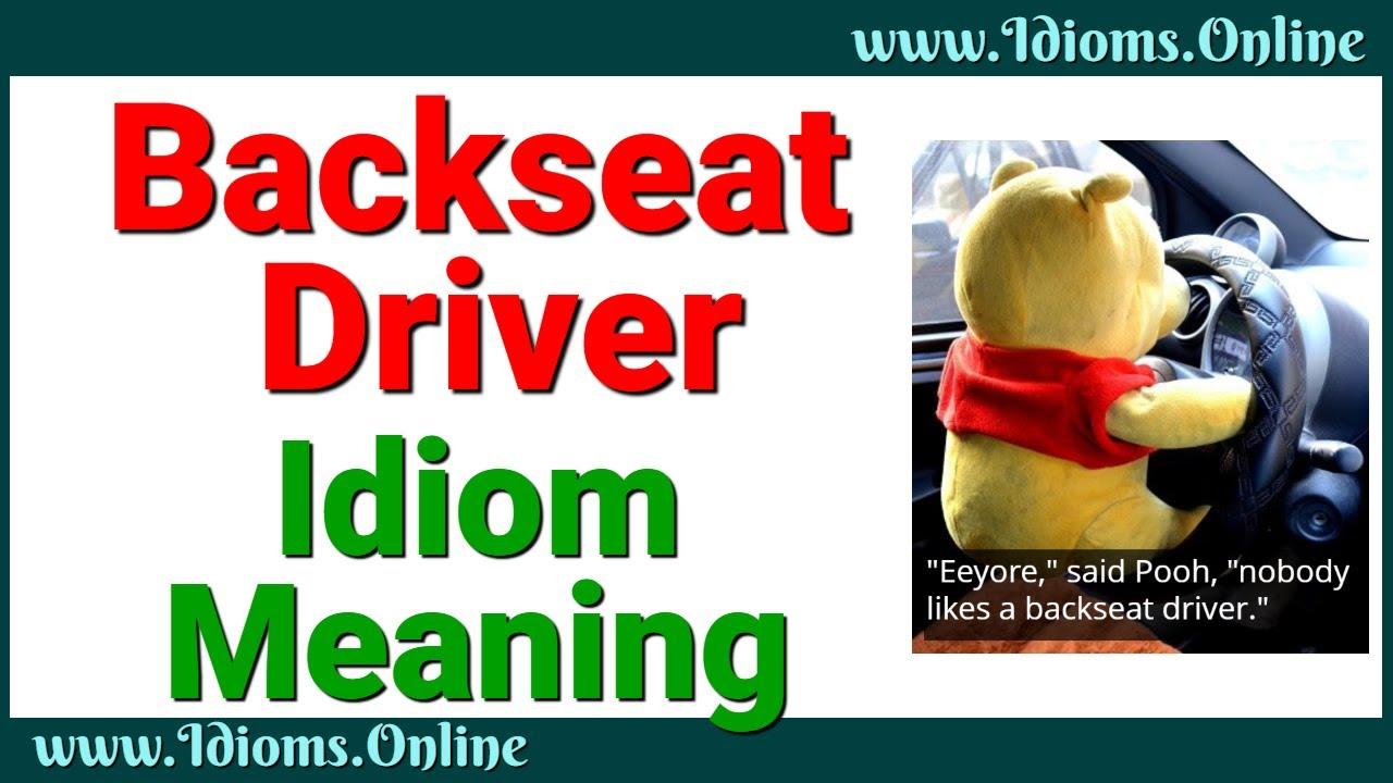 IDIOM BACKSEAT DRIVERS DOWNLOAD