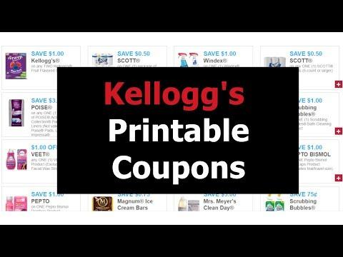 Couponing – Kellogg's printable coupons as of 7-17-19