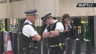 LIVE: Outside Home Office, London after a man was stabbed