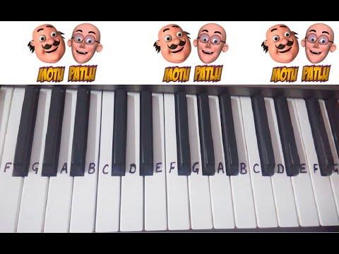 Motu Patlu theme Song Title Song on Keyboard Piano ~ Kids Cartoons Character