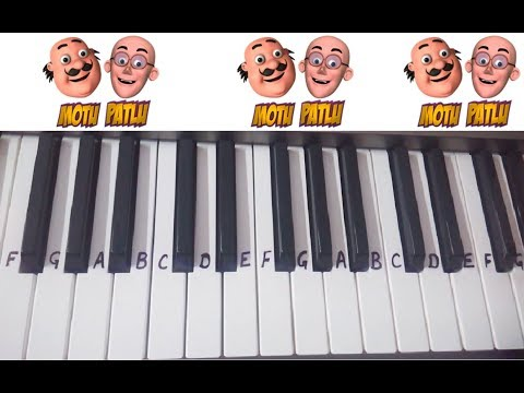 Motu Patlu Theme Song Title Song On Keyboard Piano ~ Kids Cartoons Character