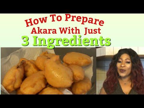 How To Prepare Akara With Just 3 Ingredients //Gloria Glitz Tv
