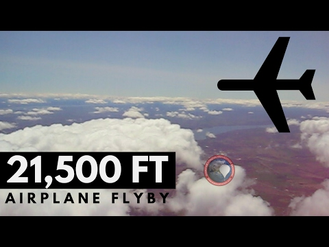 Audible Plane Flyby at 21,500 FT | Weather Balloon | OLHZN-2