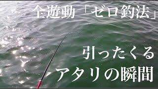 引ったくるアタリの瞬間をお届けします フカセ釣り全遊動「ゼロ釣法」で竿をひったくるアタリが連続してチヌとシーバス(セイゴ ハネ)が釣れ...
