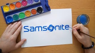 How to draw the Samsonite logo