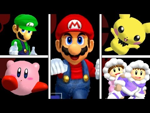 Super Smash Bros Melee  All Victory Pose Animations HIGH QUALITY