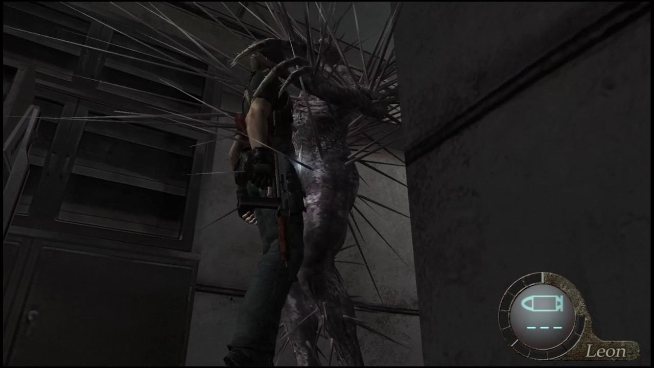 resident evil 4 leon iron maiden death - YouTube