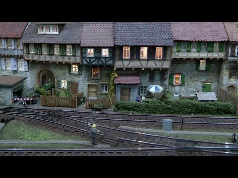 Model Trains Layout with Thousands of Funny Details in HO Scale
