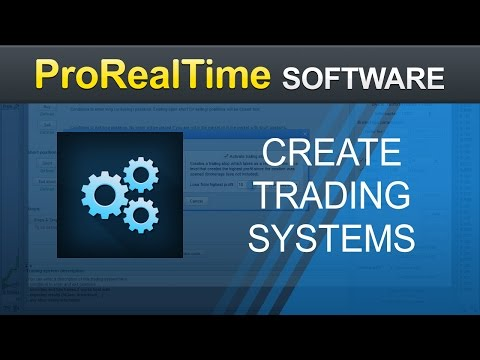 How to create a trading system without programming - ProRealTime