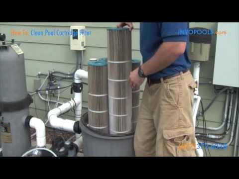 How To Clean A Pool Cartridge Filter Youtube
